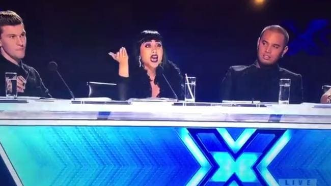 Stan Walker looked shocked as Natalia Kills and Willy Moon unleashed on the singer. Picture: TV3