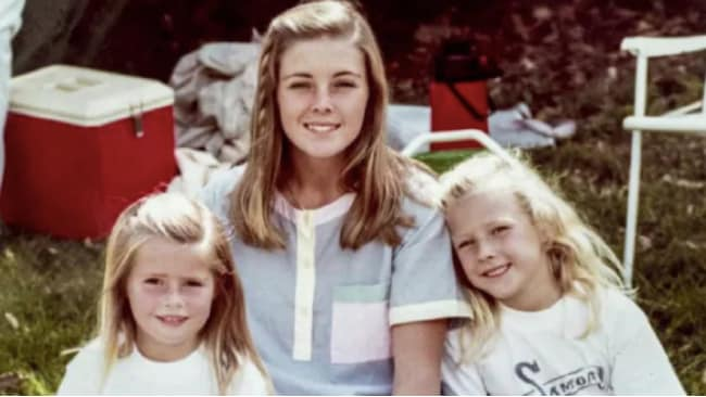 Joanne Curtis pictured with Chris and Lyn's two daughters, Shanelle and Sherrin. Source: Channel 9