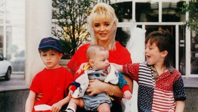 Darlie Routier with her sons Damon, Drake and Devon more than 22 years ago.