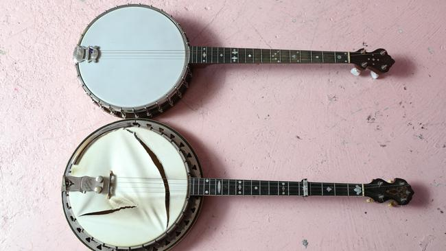 The banjos are family heirlooms.