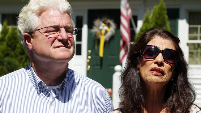 Grief ... Diane and John Foley, the parents of James Foley, will not be comforted by the death of Jihadi John. Picture: AP/Jim Cole