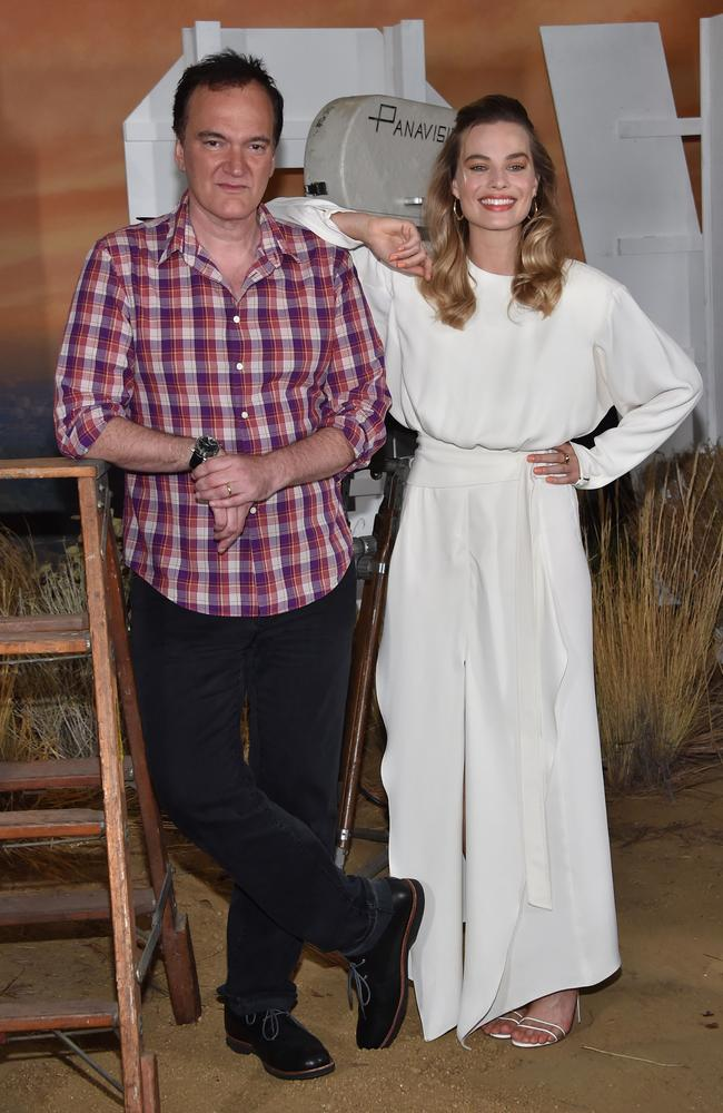Quentin Tarantino previously defended the amount of dialogue that Margot Robbie has on-screen in Once Upon a Time in Hollywood. Picture: AFP