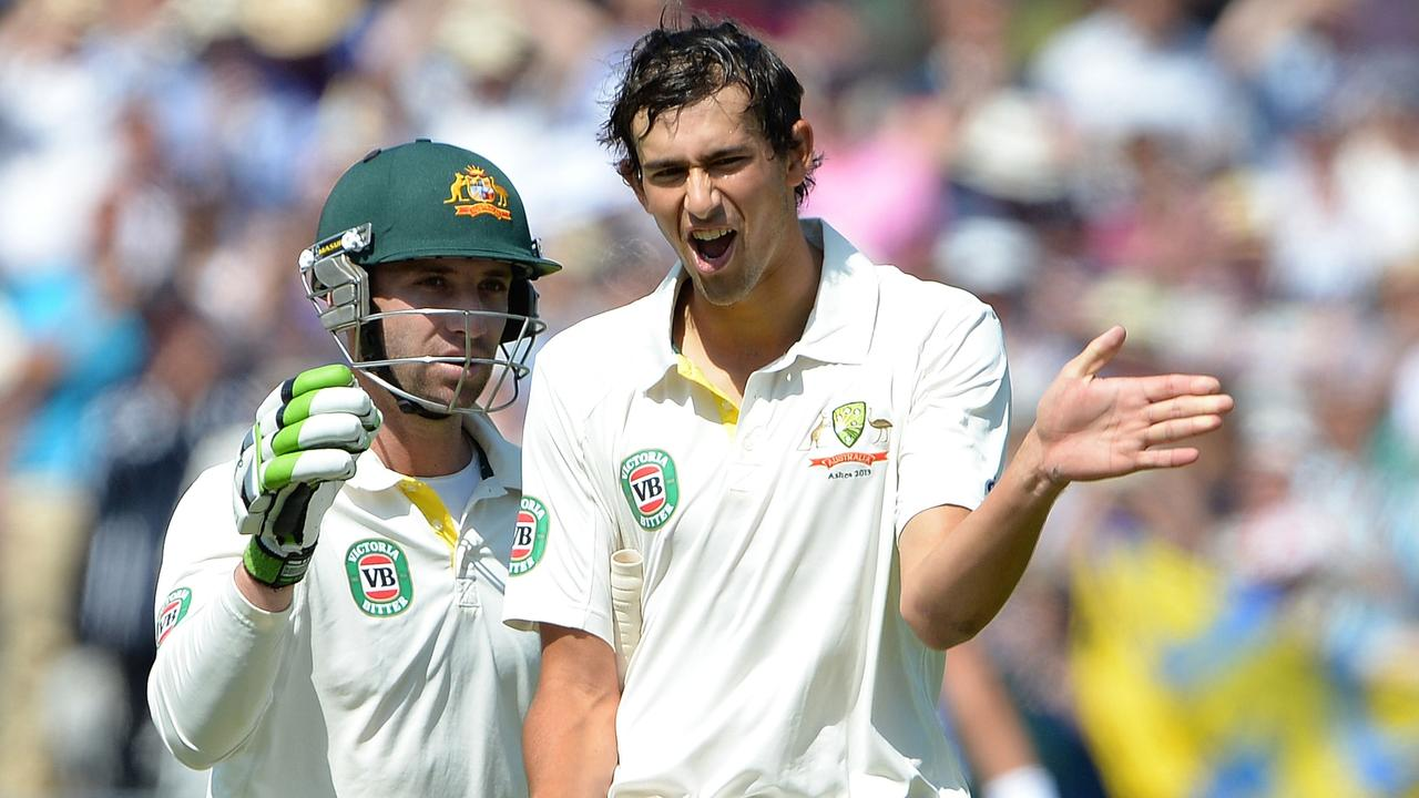 Ashton Agar broke a 111-year-old record for the highest score by a No. 11 batsman on Test debut. Picture: Andrew Yates
