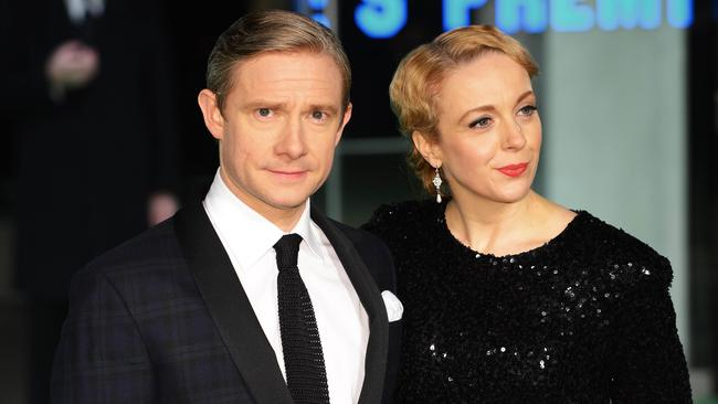 Freeman and Abbington in 2012. Picture: AFP Photo/Leon Neal