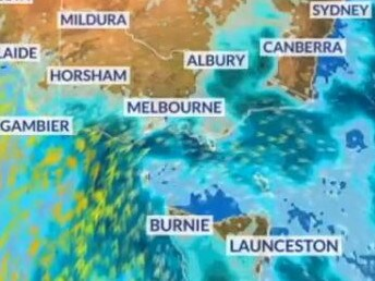 Another cold front headed for Victoria early next week. Picture: Sky News Weather