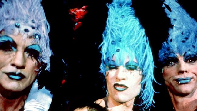 The power of the mask ... While in full drag, no one new who actors Terance Stamp, Guy Pearce and Hugo Weaving were. Picture: Supplied