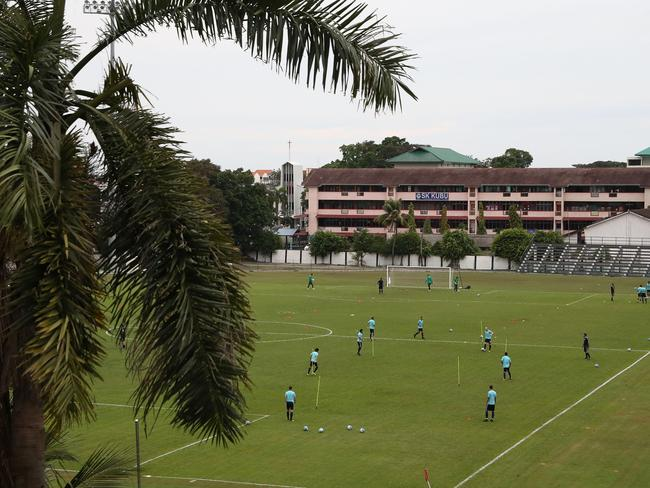 A general view during an Australia Socceroos training session at Hang Tuah Stadium on October 3, 2017 in Malacca, Malaysia.