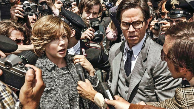 Michelle Williams and Mark Wahlberg in 'All The Money In The World'. Photo: Roadshow