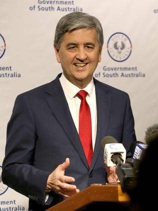 South Australian Treasurer Rob Lucas has engineered a surprise surplus in the face of a GST revenue black hole. Picture: AAP/Kelly Barnes