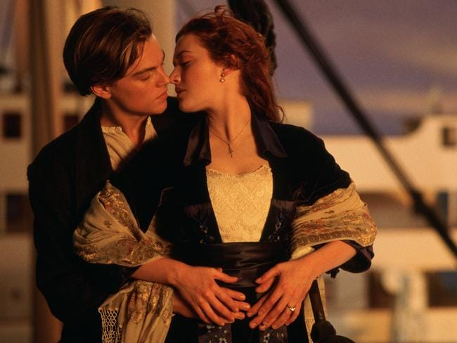 Winslet and DiCaprio recite lines from their hit movie to each other.