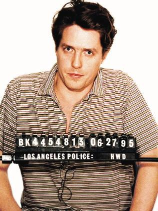Hugh Grant following his arrest for lewd conduct with prostitute Divine Brown.