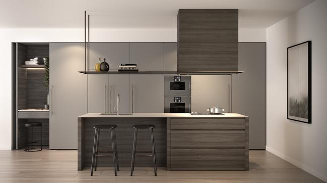 One of the two kitchen designs on offer at The Docklands.
