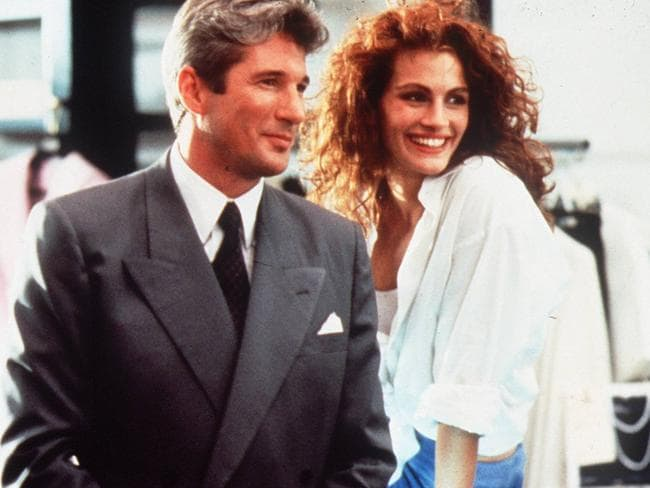 Richard Gere and Julia Roberts in a scene from Pretty Woman. Picture: supplied