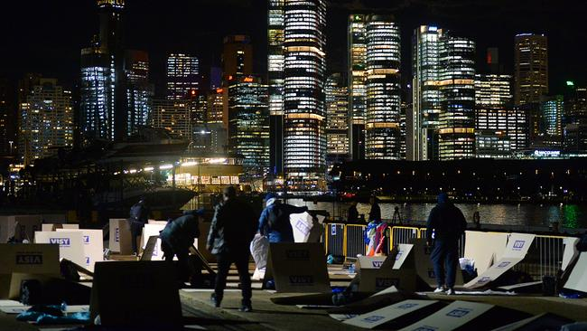 Participants of this year's annual Vinnies CEO Sleepout in Sydney. Picture: AAP/St Vincent de Paul Society/Jeremy Piper