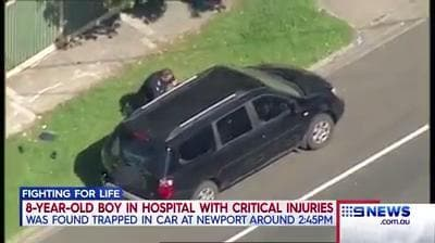 Child fights for life after being found in car