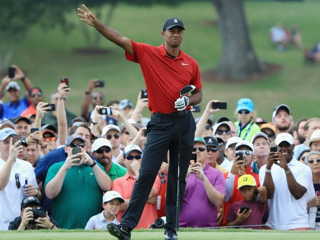 Tiger Woods has that winning feeling.