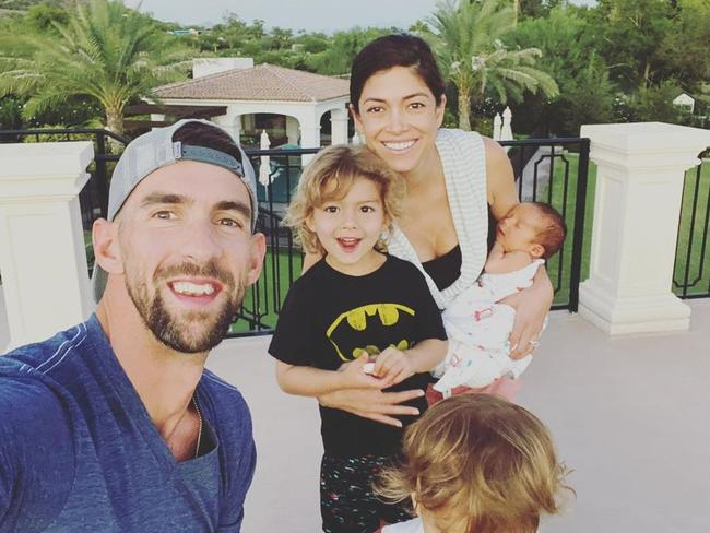 Michael Phelps with his family.