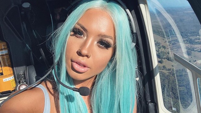 Some guests, like influencer Tammy Hembrow, arrived by helicopter to the private estate