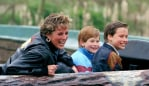 Princess Diana with Prince Harry and Prince William. Photo: Getty