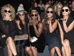 Jasmine Sanders, June Ambrose, Cynthia Erivo, La La Anthony, and Emily Ratajkowski attend the Vera Wang Collection fashion show on September 13, 2016. Picture: Getty