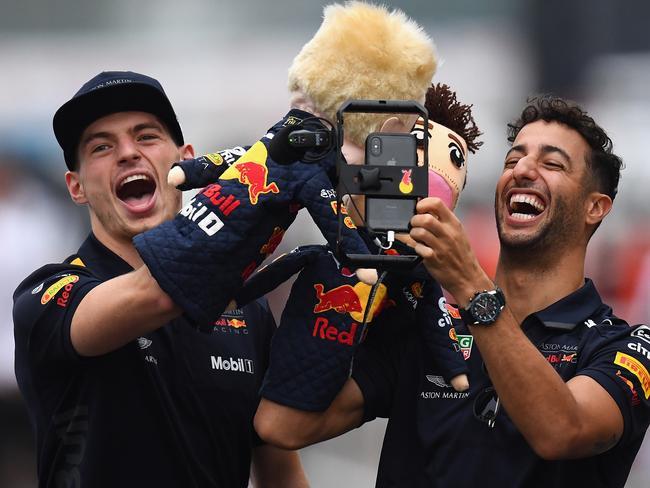 Max Verstappen and Daniel Ricciardo were teammates for three years.