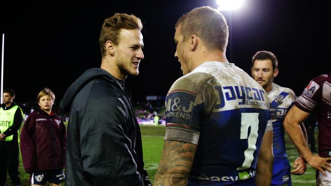 Could Daly Cherry-Evans and Trent Hodkinson unite at Brookvale in 2018? Photo: Brett Costello