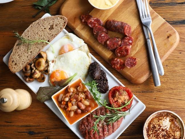 The Big English breakfast. Picture: Jenifer Jagielski