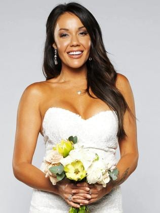 And Ryan's bride, Davina. Picture: NINE