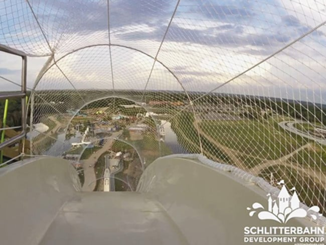 The view from the top of Verruckt is both scary and awesome.