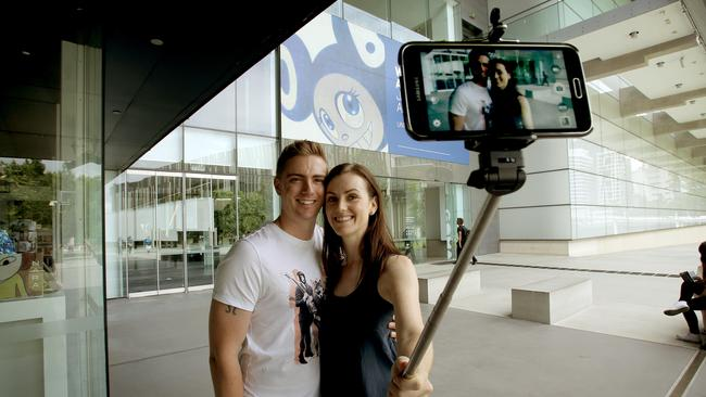 Selfie sticks have been banned at GOMA in Queensland.
