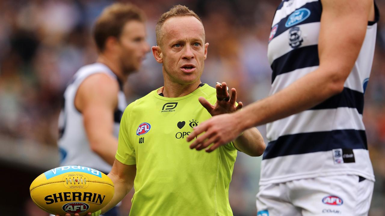 Ray Chamberlain will umpire the Melbourne v Geelong final. Picture: Michael Klein