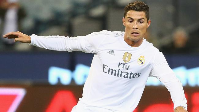 Cristiano Ronaldo of Real Madrid controls the ball during the International Champions Cup friendly match between Real Madrid and AS Roma.