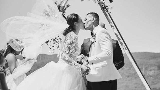 The Folau's married in Kangaroo Valley. Photo: Maria Folau Instagram