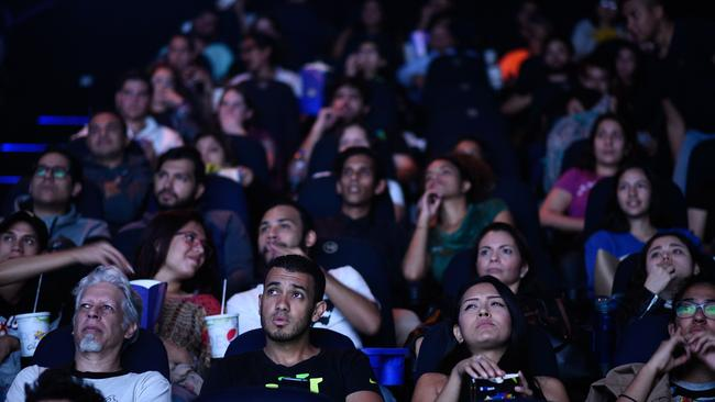 Venezuelan filmgoers watch the first screening of Marvel Studios' Avengers: Endgame. Picture: Federico Parra / AFP