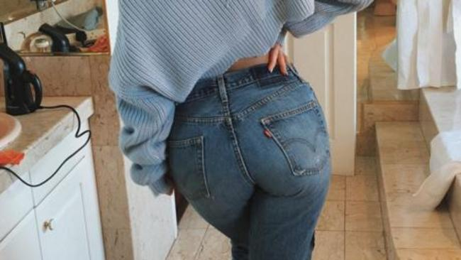 d1bed927f69 Kylie Jenner shows puts her assets on display in a pair of Levi s. Picture