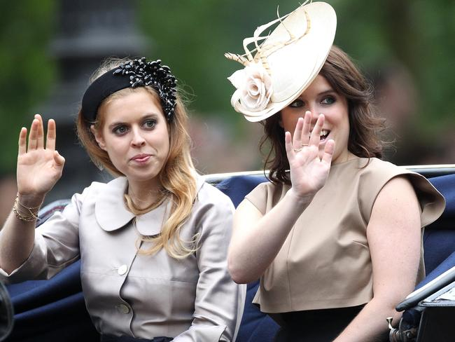 Princess Eugenie with her elder sister Princess Beatrice (on left). Picture: Danny Martindale