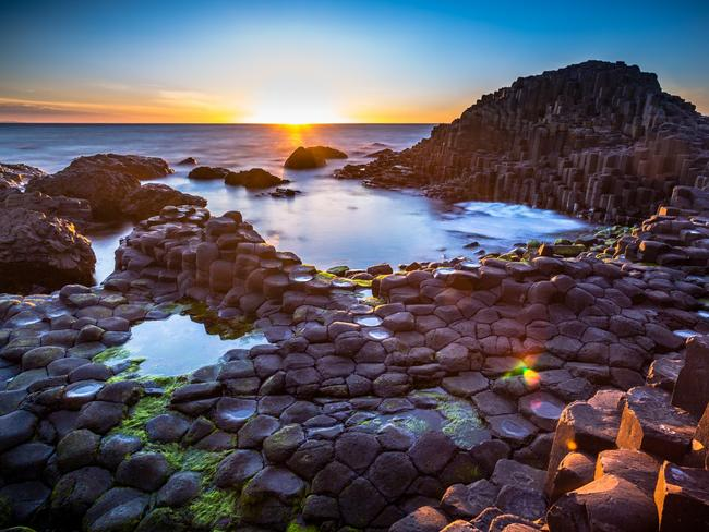 Not even the spectacular Giant's Causeway in Northern Ireland could impress these mums. Picture: iStock