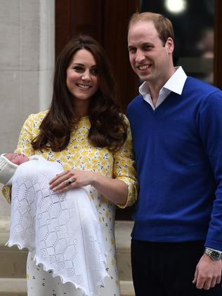 Kate and William with Charlotte. Picture: AFP