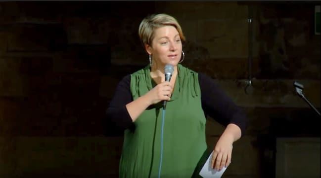 Nelly Thomas performing at No Offence in 2015. Picture: Youtube.