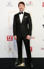 James Blunt arrives on the red carpet at the 59th annual TV Week Logie Awards on April 23, 2017 at the Crown Casino in Melbourne, Australia. Picture: Julie Kiriacoudis