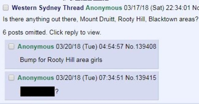Forum for pictures of women from Mount Druitt, Rooty Hill and Blacktown. Picture: Screenshot
