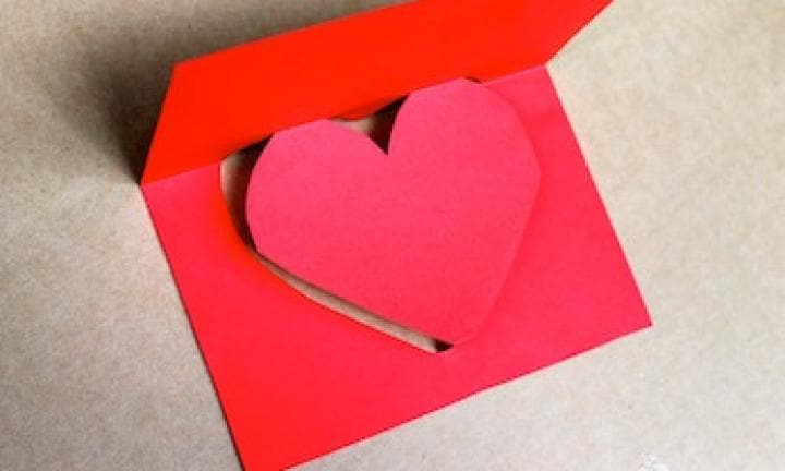make a simple pop up heart card - Make A Pop Up Card