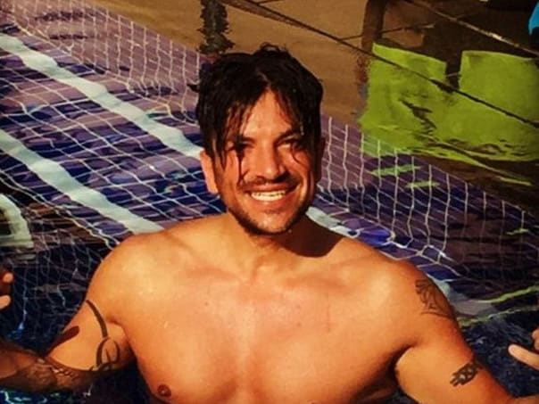 Peter Andre was never afraid of a topless shot. Picture: Instagram