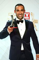 Adam Dovile poses with the Logie Award for Best New Talent 'Better Homes And Gardens' during the 58th Annual Logie Awards at Crown Palladium on May 8, 2016 in Melbourne, Australia. Picture: Scott Barbour/Getty Images
