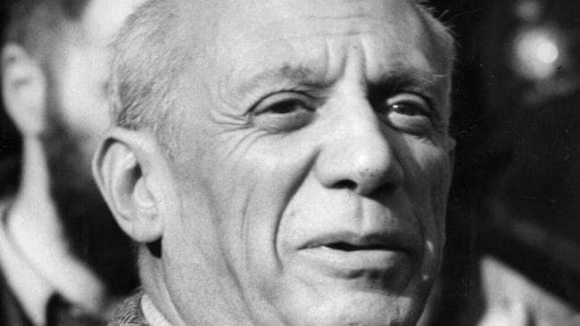 A multimillion-dollar painting by artist Pablo Picasso — pictured here in 1950 — went down with the plane. Picture: Photo File