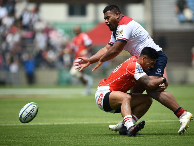 The Reds dropped the ball in their hiding from the Sunwolves. Picture: AFP Photo/Martin Bureau