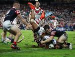 Nene Macdonald of the Dragons scores a try during the round eight NRL match between the Sydney Roosters and the St George Illawarra Dragons at Allianz Stadium on April 25, 2017 in Sydney, Australia. (Photo by Ryan Pierse/Getty Images)