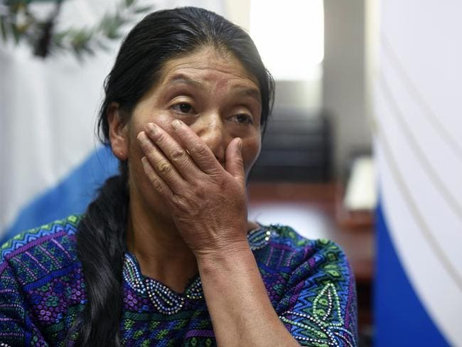 Dominga Vicente, the aunt of Claudia Gomez, demanded justice. Picture: AFP