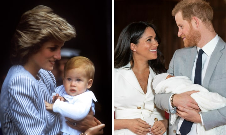 Diana's sister one of first to meet Harry's son