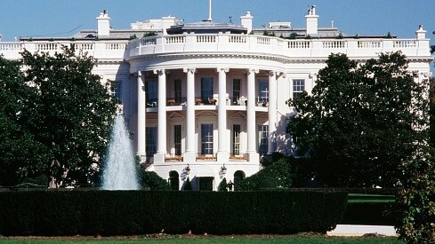 The White House residence where Donald Trump lives with his family.